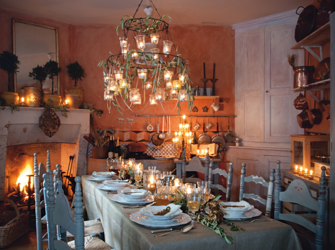 Provencal christmas table linens and accessories - Decoration de la table de noel ...