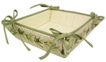 Provencal bread basket, Jacquard (Olives. linen) : Provence ...