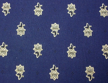 Provence Fabric (Marat d'Avignon / Avignon. navy blue, all over)