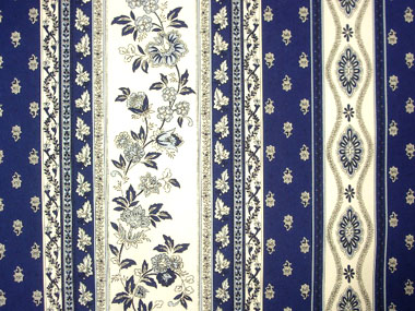Provence Fabric (Marat d'Avignon / Avignon. navy blue, striped)