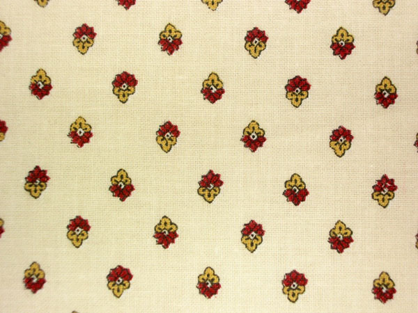 Provence Fabric (Esterel. raw/bordeaux , all over)