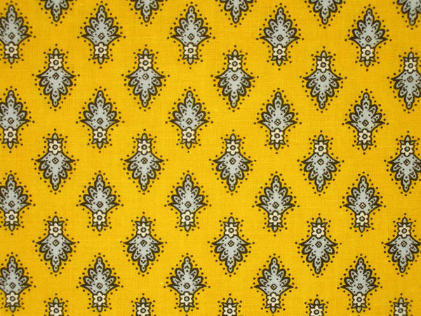 Provence Fabric (Ecusson. yellow, all over)