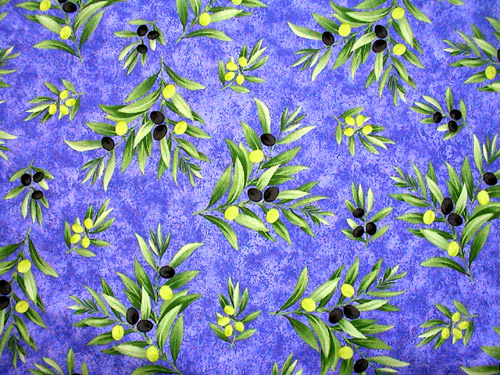 Provence Fabric (olive blue, all over)
