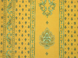Provence Fabric (Marat d'Avignon / manoir. yellow, striped)