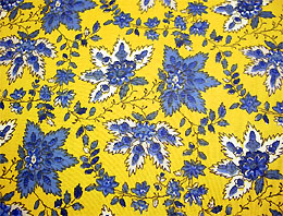 Provence Fabric (Palmette. yellow x blue, all over)