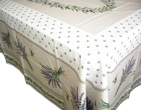 French coated tablecloth