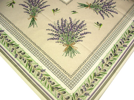 Coated Provence Tablecloth