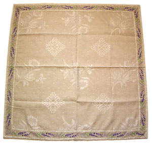 French Jacquard tablecloth (Lavender. raw)