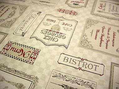 wine label French Jacquard table cloth