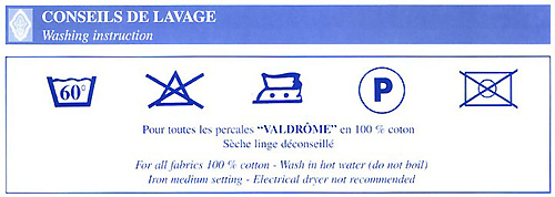 valdrome washing instruction
