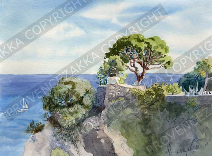 Provence water color print limited edition
