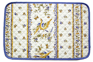 Provence Quilted Placemat Non Coated Moustiers