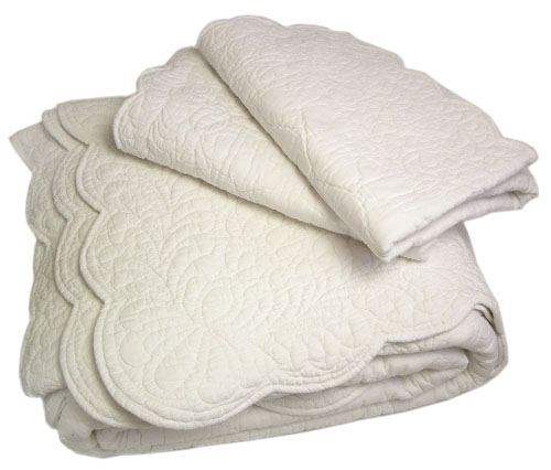 Elegant Provencal Boutis Bed Cover, Bedspread (VENCE. 8 Colors)