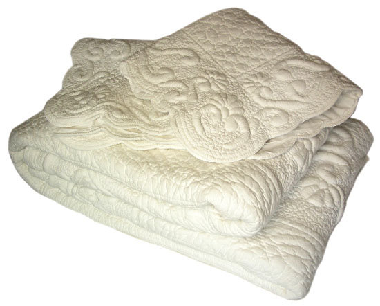 Delicieux Provencal Boutis Bed Cover, Bedspread (TURPENTO. 1 Color)