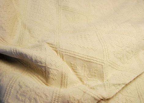 Provencal Boutis Bed Cover, Bedspread (RIHANNA . Beige)
