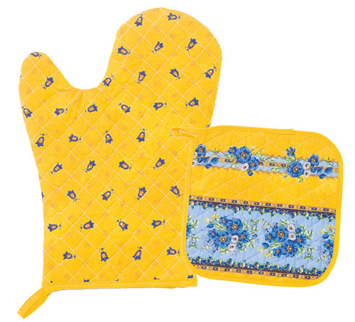 Oven glove & Square Pot Holder Set (Marat d'Avignon / tradition.