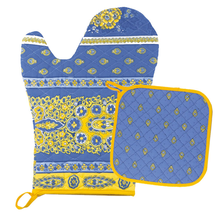 Oven glove & Square Pot Holder Set (Marat Avignon / bastide.lave