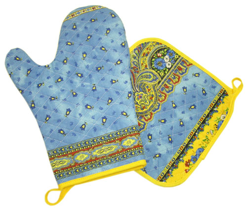 Oven glove & Square Pot Holder Set (Marat Avignon / tradition. b