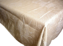 French Jacquard tablecloth, (sunflowers. naturel)