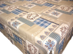 Coated tablecloth (Christmas Auron. blue)
