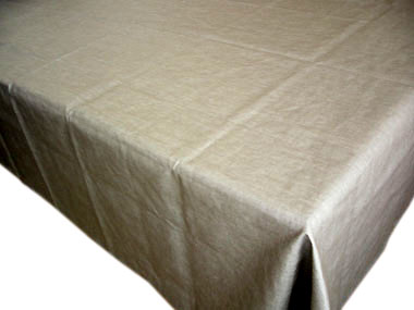 Coated Linen Tablecloth (Linen. taupe)