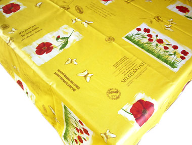 Coated tablecloth (coquelicot / poppy. yellow)
