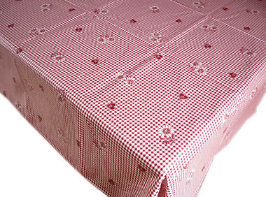 Coated tablecloth (vichy meribel)