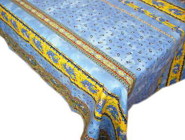 Coated tablecloth (Marat d'Avignon / tradition. blue)