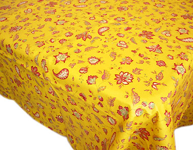Coated tablecloth (Vence. yellow)
