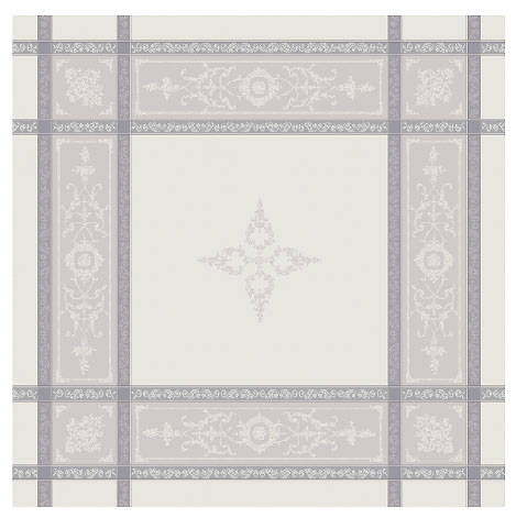 French Jacquard tablecloth, Teflon (Montmirail. raw-gray)