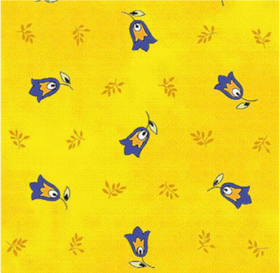 Coated tablecloth (Marat d'Avignon / tradition. yellow)
