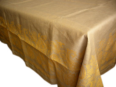 French Linen Tablecloth (Chopin. gold)