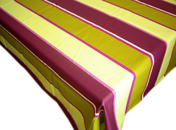 French Basque tablecloth, coated (Border. anis x violettes)