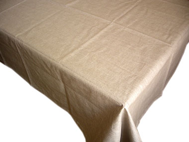 Coated Linen Tablecloth (Linen)