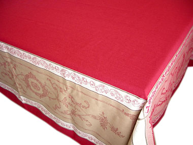 French Jacquard tablecloth, Teflon (Montmirail. bordeaux)