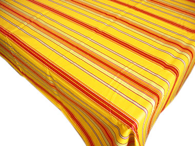 French Basque tablecloth, coated (Border Josas. yellow)