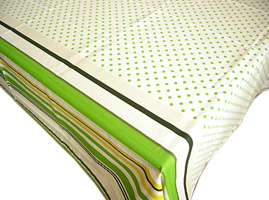 French Basque tablecloth, coated (Biarritz poisrayure.printemps)