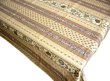 French coated tablecloth (Ellora, linen)
