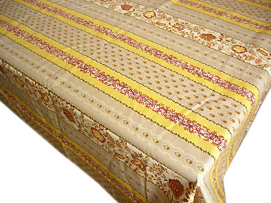 French coated tablecloth (Ellora, safran)