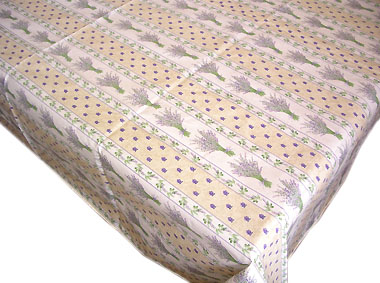 French coated tablecloth (Lavender 2009. raw)