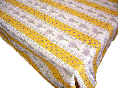 French coated tablecloth (Lavender 2009. yellow)
