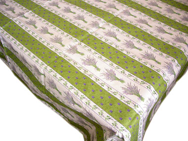 French coated tablecloth (Lavender 2009. green)