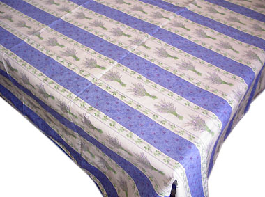 French coated tablecloth (Lavender 2009. blue)