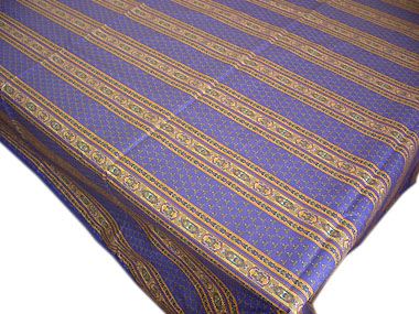 French coated tablecloth (Ste Lucie. blue)