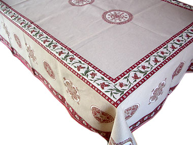 French Jacquard multi-cover (Montagne ASTUN. beige-bordeaux)