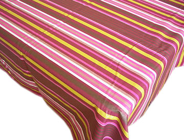 French Basque tablecloth, coated (ZEPHIYR. aubergine x anise)