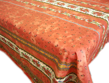 Coated tablecloth (Marat d'Avignon / tradition. rust)