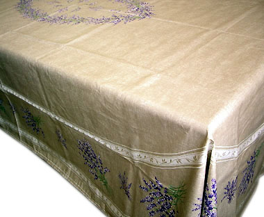 French coated tablecloth (Lavender 2007. natural)
