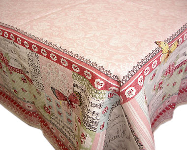 French Jacquard tablecloth / multi-cover (ALLEGOR.rose)
