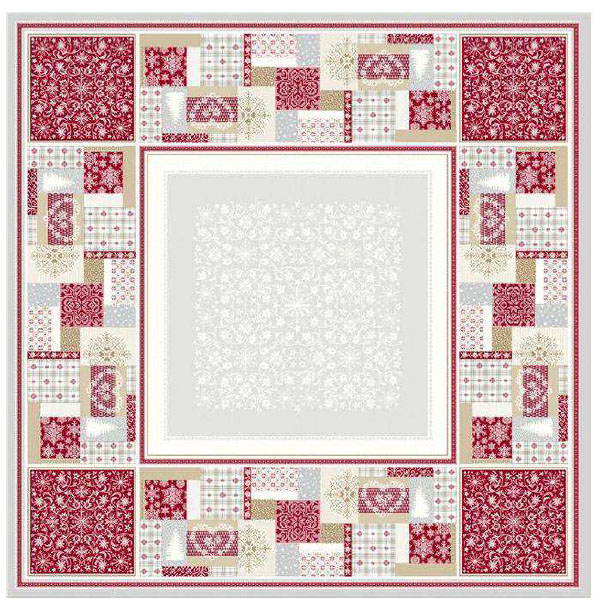 French Jacquard multi-cover (Montagne Himalaya. grey-red)